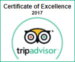2017 Trip Advisor Certificate of Excellence