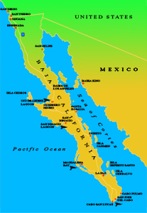 Map of the Baja California Peninsula