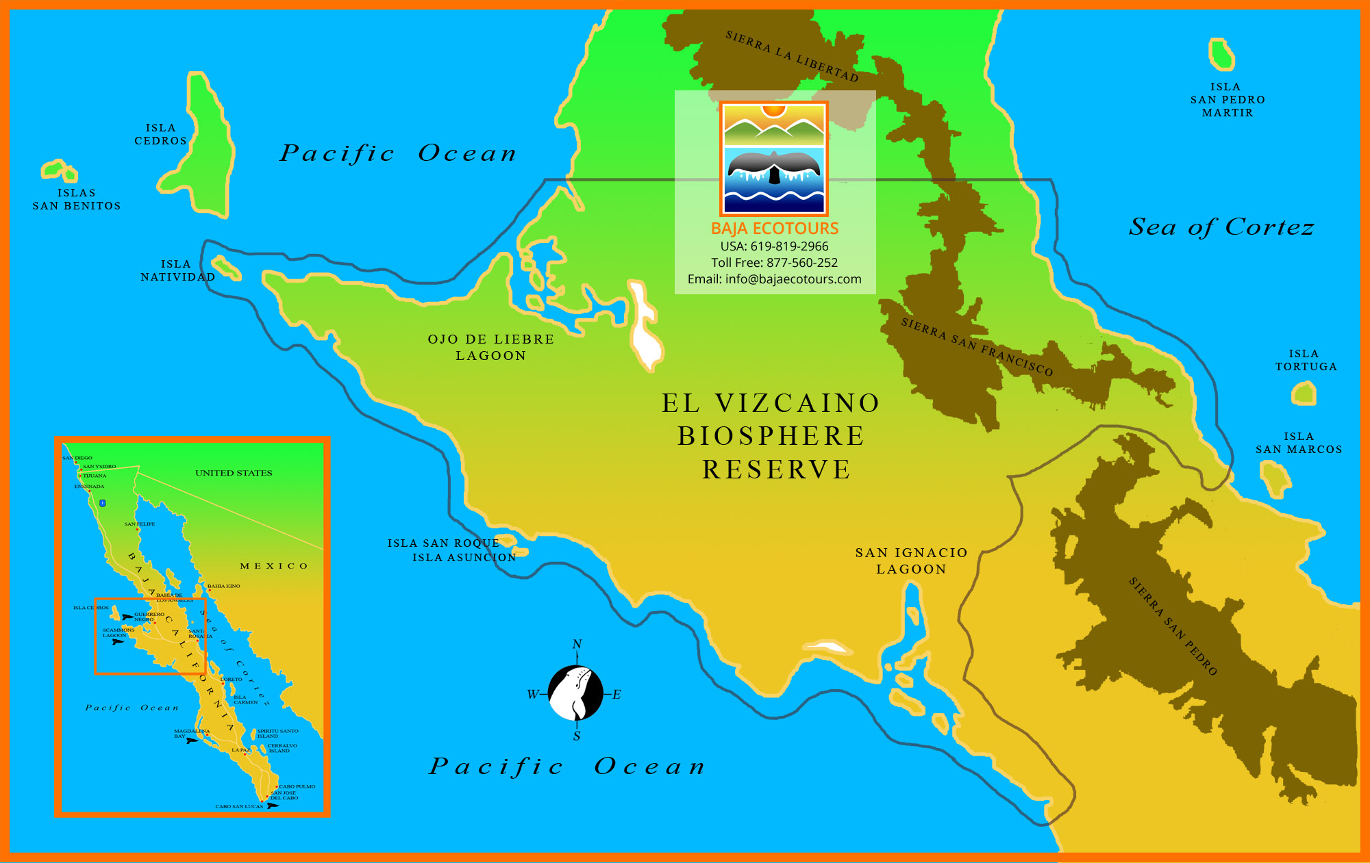 Baja Ecotours | Maps of Baja California